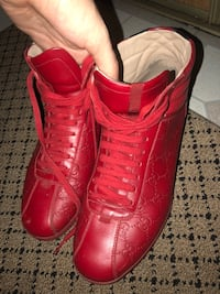 Pair of red Gucci High-top sneakers Oakville, L6M