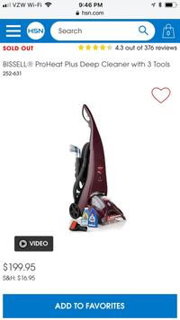 Bissell Pro Heat Plus, Carpet cleaner Vacuum. Used once, got hard wood install so won't use it. Woodbridge, 07095