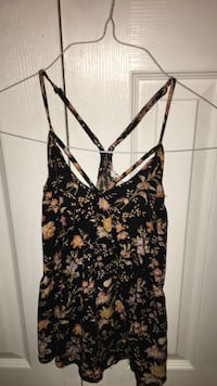 Multi-colored floral tank top