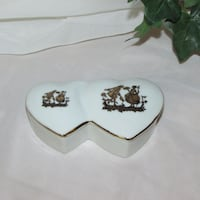 "$5 Porcelain Trinket Box Jewelry Ring 4 3/4"" Heart Mississauga"