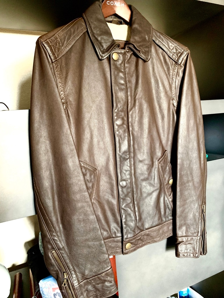 Photo Mens COACH Leather Jacket