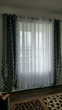 white and black window curtain Calgary, T3J 1M2