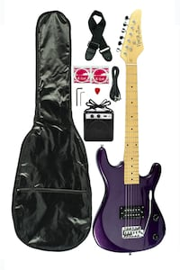 (NEW!) Electric Guitar, Amp, Case, Cord and More