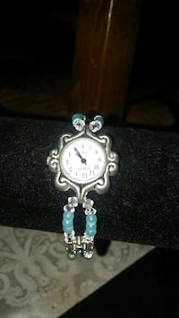 round silver-colored analog watch with link bracelet Poway, 92064