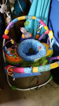 blue and multicolored printed jumperoo Chesapeake, 23324