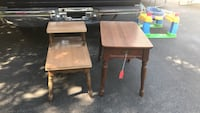 2 solid wood end tables w/ Formica tops. MAKE OFFER  Webster, 14580