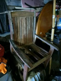 brown wooden rocking chair with brown wooden chair Columbus, 43227