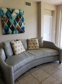 gray fabric sofa with throw pillows Fort Myers, 33901