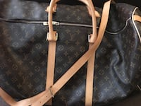 black and brown Louis Vuitton leather tote bag Surrey, V3T 3Y9
