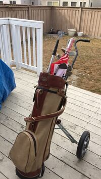 brown and beige leather golf bag Edmonton, T6R 0L4