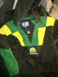 green and black The North Face zip-up jacket Spokane, 99202