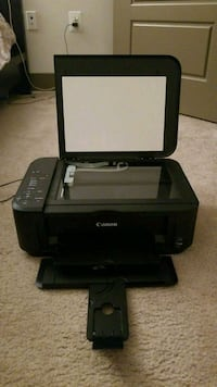 black Canon Pixma desktop printer