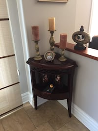 Cherry wood corner table from Bombay  Laval, H7G 3G6