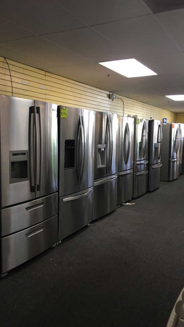 French door stainless steel refrigerator excellent condition