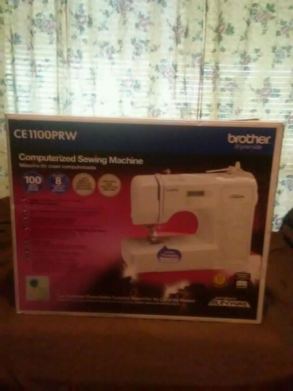 Used white Singer electric sewing machine box for sale in Brazoria Amazing Sewing Machine Box