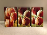 Tulip paintings. Set of 3  Aurora, L4G 6P6