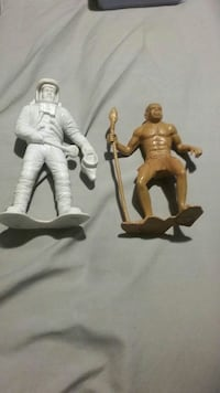 two plastic figures of man