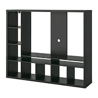 LAPPLAND TV storage unit, black-brown Toronto, M5B