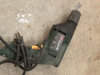 black and gray corded power drill Mississauga, L5M 7A4