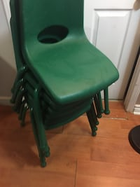 6 Green and daycare chairs  Brampton, L7A 2A9