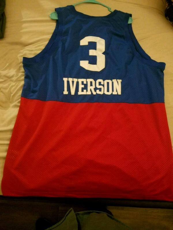 buy online 7bc9d 7592f blue and red Nike LeBron James 23 jersey