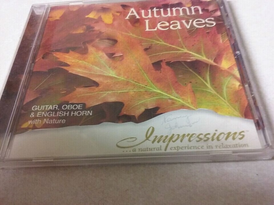 Photo Autumn Leaves CD music of guitar,oboe & English horn