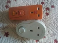 red and white power strip