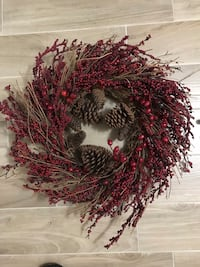 red berry and brown pinecone wreath Toronto, M6N 5H6