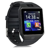 2018 New Smart Watch Phone SIM Memory Card Bluetooth Android iPhone for Kids Girls Boys Men Women Brand new in box with charger and manual. Colors: black and silver  The smartwatch has sleep monitor, reminder, alarm clock, calling and text messaging, calc Mont-Royal, H3R 1G7