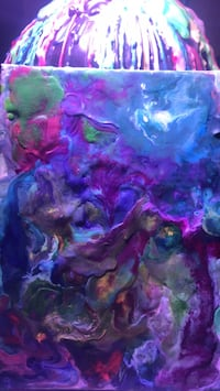 purple and blue abstract painting Burlington, 41005