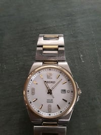 round gold-colored Seiko analog watch with link br Chula Vista, 91910