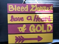 FSU hand painted sign