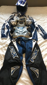 Youth Dirtbike motocross Gear, Helmet, Chest Protector, Jersey, Pants