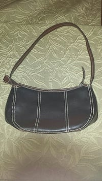 Leather purse black and brown