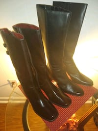 Fashion boots ???? two pair ???? one pair brown the other pair black Norfolk, 23503