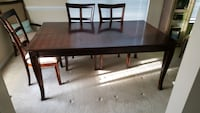 rectangular brown wooden dining table Potomac, 20854