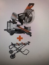 Rigid Compound Mitre Saw with Mobile Mitre Saw Stand Germantown