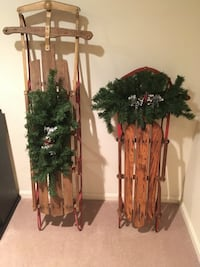2 vintage sleds. Christmas decor.  Fairfax Station, 22039