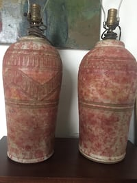 Mid century signed Rosenbloom pottery lamps Richmond, 23225