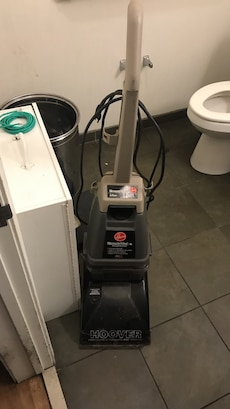 grey and black vacuum cleaner