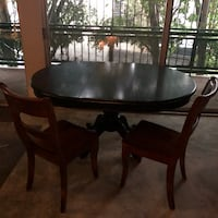 Dining set with table and five wooden chairs Los Angeles, 90046