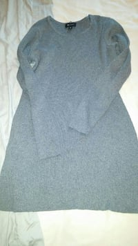 Women's Large gray sweater dress