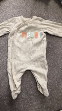 baby's white footie pajama Barrie, L4M 0S5