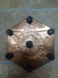 "12"" garnet crystal grid on copper orgon energy plate Midland, L4R 2E7"