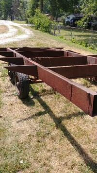 Large Heavy Duty Trailer Frame / Base on Wheels plus Another Frame Maineville