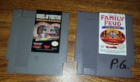 NES games- Wheel of fortune and Family Feud