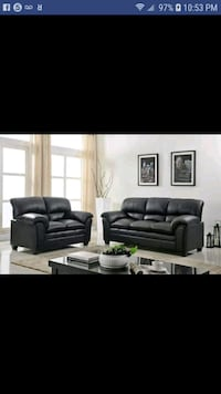 New black leather 2pcs sofa and Loveseat  Austin, 78726
