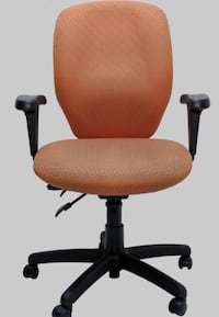 Computer Arm Chairs in Orange fabric - Set of 2 Miami