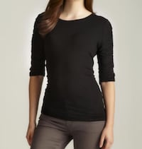 New with Tags Vince Camuto Black ruched Top