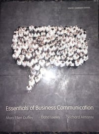 Essentials of business communication book